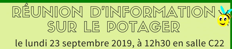 Réunion potager 2019